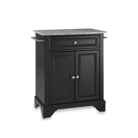 crosley lafayette kitchen island with solid black granite buy crosley lafayette solid granite top portable kitchen