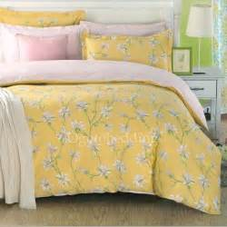 Yellow Bedding Sets Light Yellow Country Cotton Floral Comforter Sets Ogb14112201 78 99