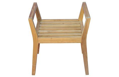 lbl regale teak shower bench w arms regal teak brands one