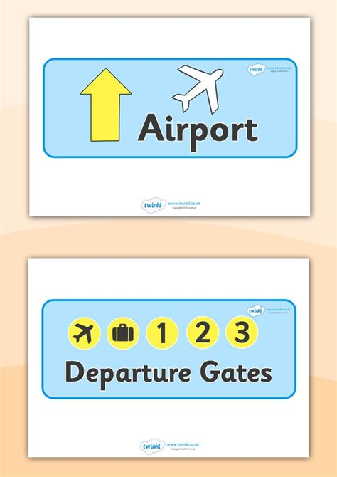 Airplane Wall Stickers twinkl resources gt gt airport role play signs gt gt classroom