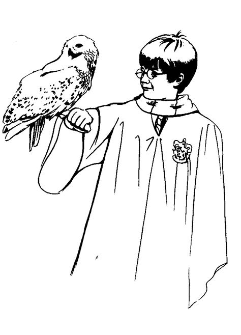 coloring page of harry the printable harry potter coloring pages coloring me