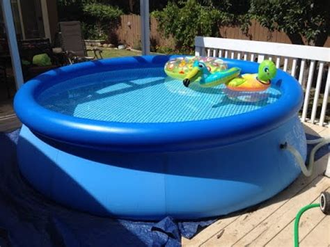 backyard blow up pools intex easy set pool review inflatable pool youtube