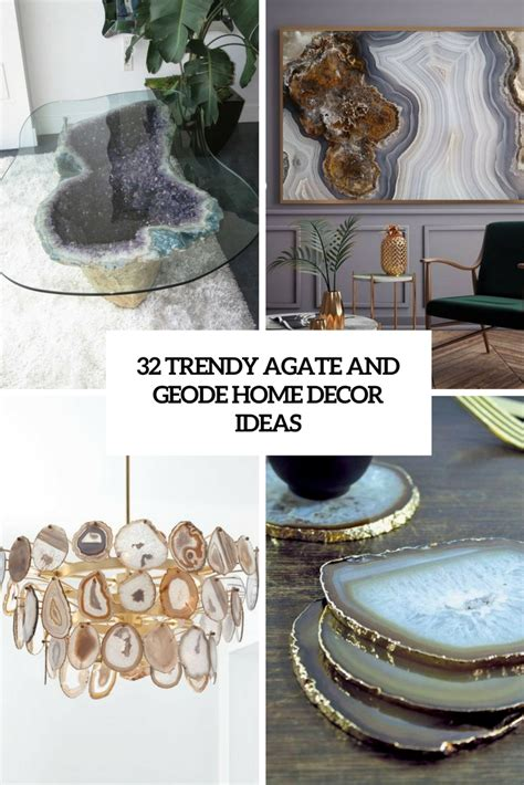 decorative accessories for home 32 trendy agate and geode home d 233 cor ideas digsdigs