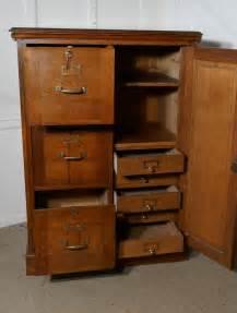 Large File Cabinet by Large Edwardian Oak Filing Cabinet Office Cupboard Antiques Atlas