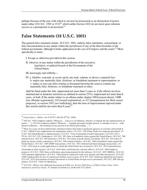 section 1001 of title 18 95 us criminal code title 18 section 1001 summaries