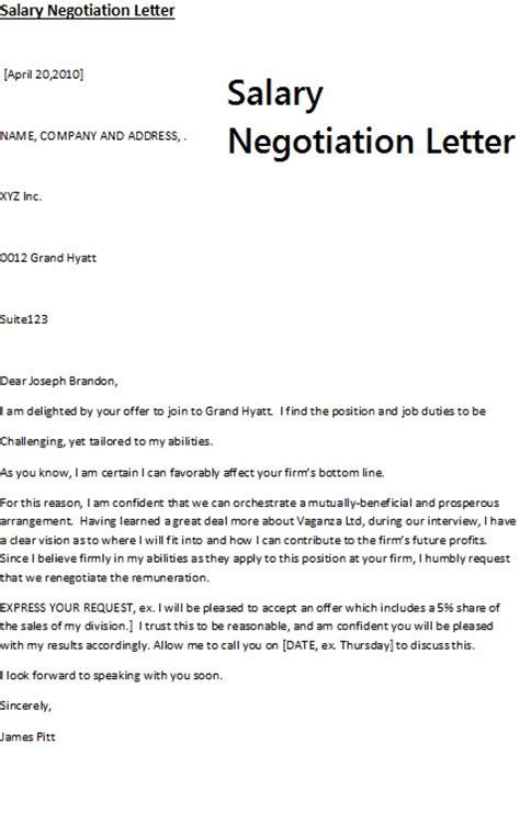 salary negotiation letter sample pdf letter of negotiation