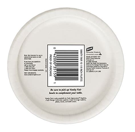Vanity Fair Disposable Plates by Vanity Fair Plates Family Pack 28 Count Business