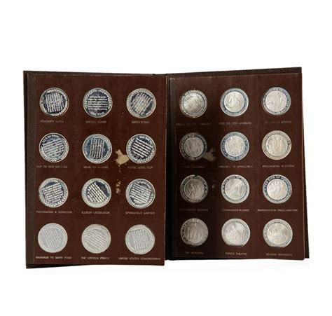 life of abraham lincoln coin the life of abraham lincoln 24 piece sterling silver