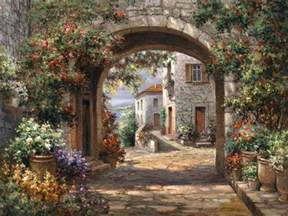 Cheap Beach Wall Murals 3 prints of tuscany italy paintings scenes of