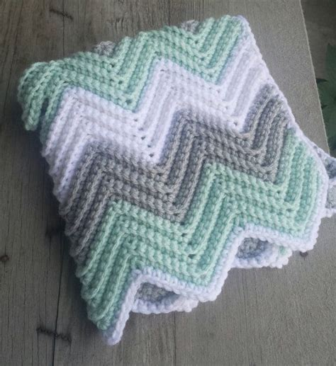 pattern st roller crochet chevron baby blanket with holes for car seat