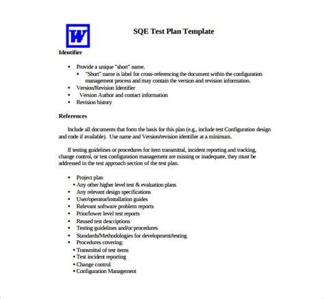 13 test plan templates free sle exle format