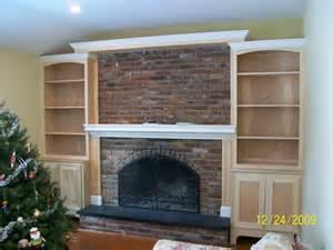 built ins around fireplace shelves
