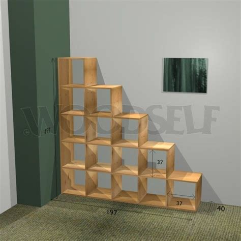 how to build a cube bookcase 33 best images about wooden steps on pinterest wooden