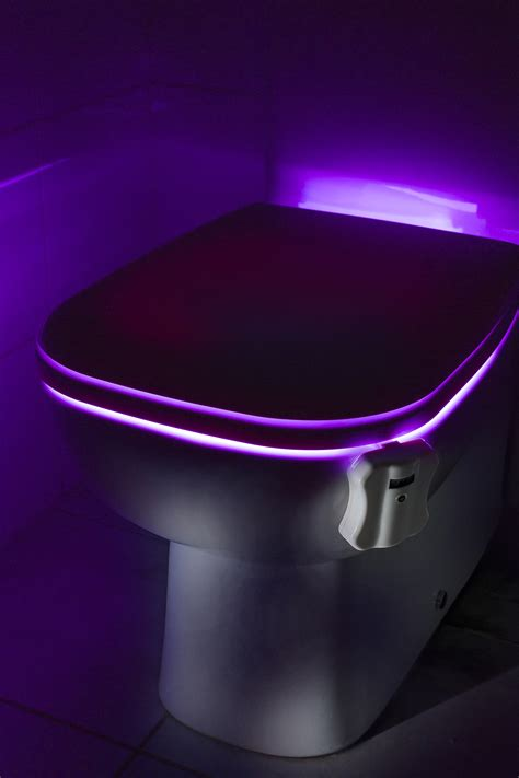 toilet bowl light auraglow colour changing led motion activated sensor