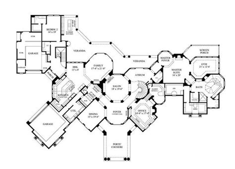 large luxury home floor plans luxury home plans mediterranean home design 8768