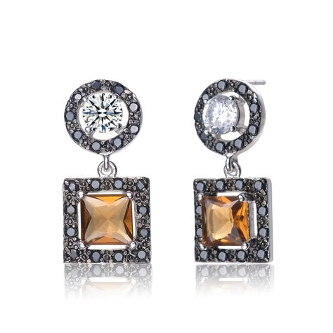 Silver Dangle With Cubic Zirconia P 1154 flawless cubic sterling silver mulitcolor cubic zirconia dangle earrings relaveno