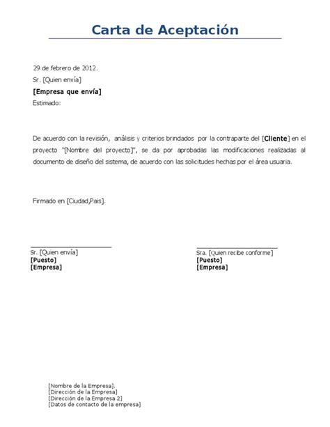 carta de aceptacin de comisario facebookcom plantilla de carta de aceptacion formal dise 241 o