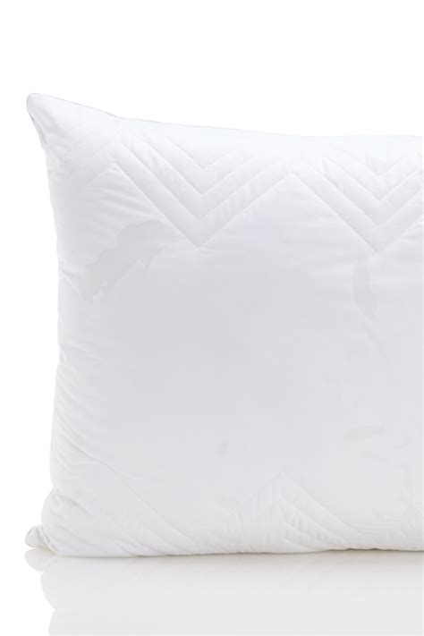 quilted goose and feather down standard pillow in white nordstrom rack standard down feather down alternative