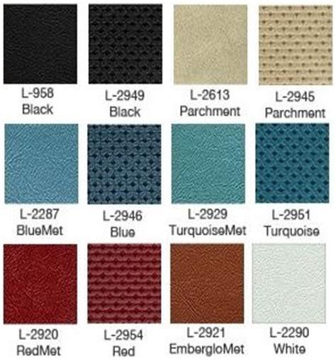 1966 mustang color chart 1966 66 mustang interior kit parts