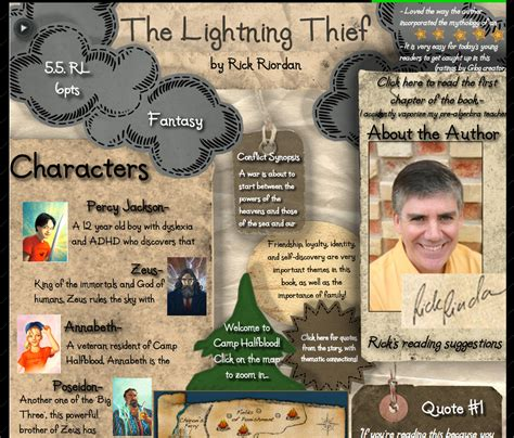 lightning thief book report schoolbox treasures glogster yet another amazing