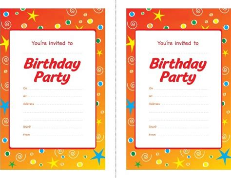 layout for invitation to birthday birthday party invitations and gets a lot of gifts from