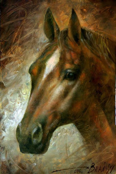 Horse Head Painting By Arthur Braginsky