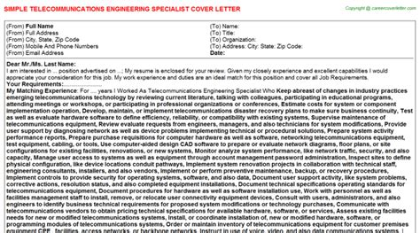 Telecom Implementation Engineer Cover Letter by Application Letter Telecom Engineer 28 Images The World S Catalog Of Ideas Application
