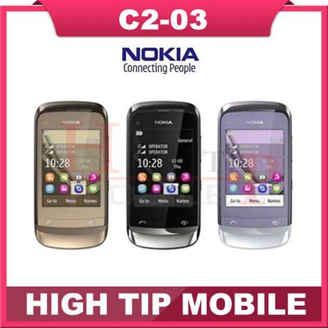 Touchscreen Nokia C2 03 Original Berkualitas c2 03 original unlocked nokia c2 03 mobile phone bluetooth mp3 dual sim touchscreen cheap cell