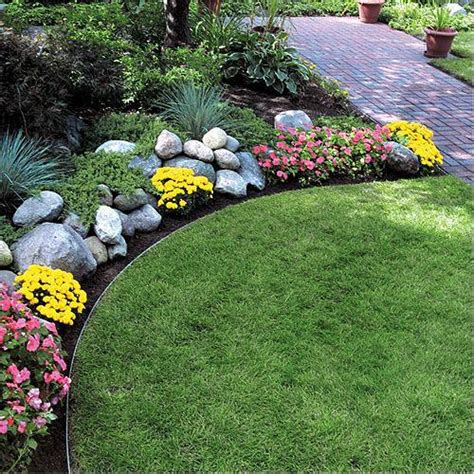 Metal Garden Edging Ideas Steel Lawn Edging Permaloc 174 Aluminum Landscape Edging Sections Bundle Of 6 Sections