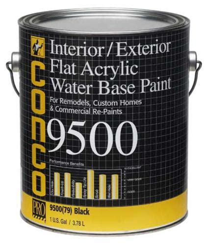 conco 9500 flat black water based interior exterior acrylic paint 5 gal at menards 174