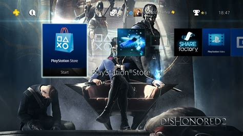 ps4 themes are bad dishonored 2 gets three ps4 dynamic themes for free and