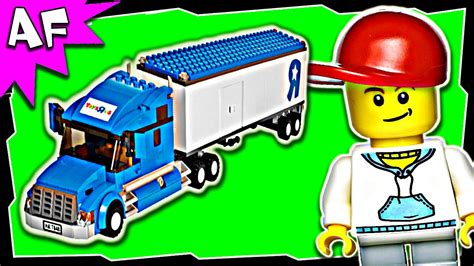 lego badezimmerzubehör lego city toys r us truck 7848 stop motion build review