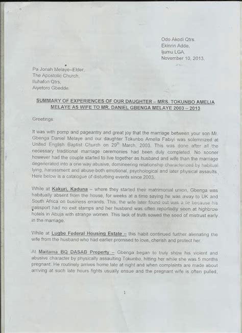 Divorce Letter In Nigeria Dino Melaye S Files For Divorce Cst Beating Domestic Abuse Naijagistsblog Nigeria