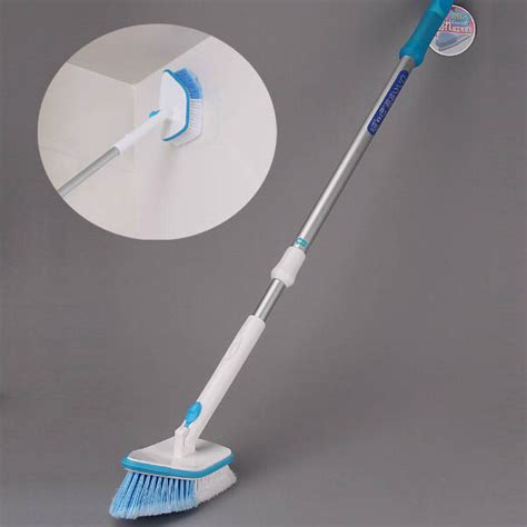 bathtub cleaning brush buy retractable long handle bathroom kitchen cleaning brush wipe tile bazaargadgets com