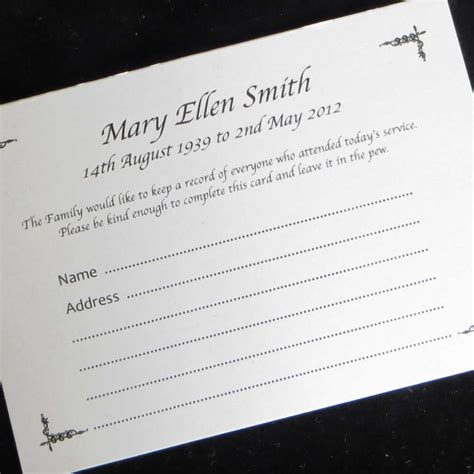 print on demand card games uk 10 funeral attendance cards fat08 ijc your print on demand