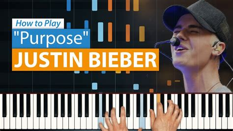 tutorial piano purpose all parts free how to play quot purpose quot by justin bieber