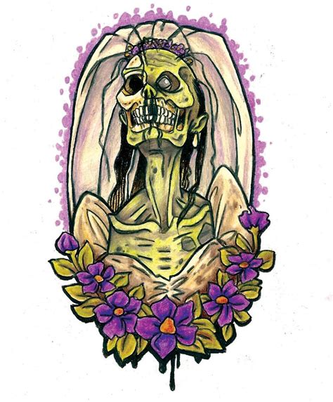 design art zombie zombie bride by thedanika on deviantart