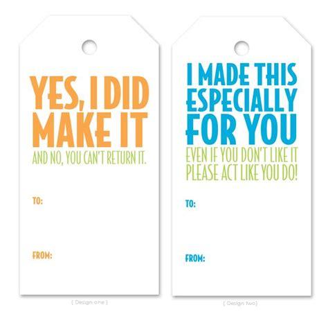 printable labels homemade gifts printable tags for handmade gifts handmade no sew gifts
