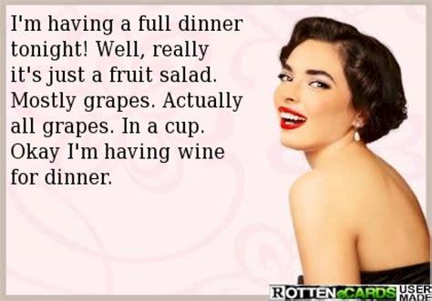 Fruit Salad For Dinner Meme - im having a full dinner tonight ecard