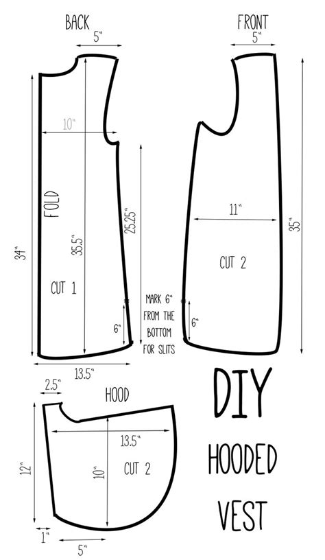 free printable vest pattern vest pattern pieces diy hooded vest versatile one vest