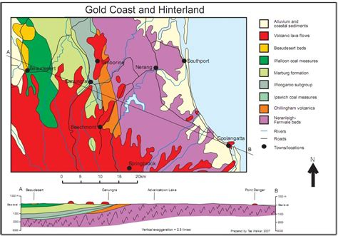 geological section maps geological maps show geological history of the gold coast