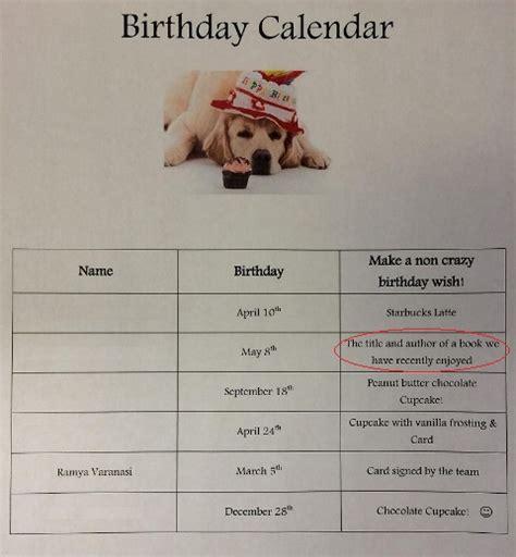the birthday wish list day pictureback r books ramya s activity room creative arts