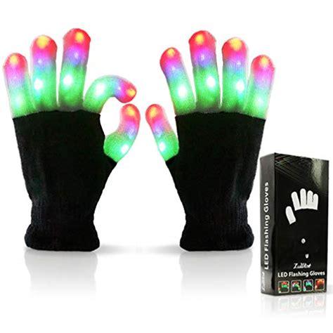 finger lighting gloves luwint led colorful finger lighting gloves