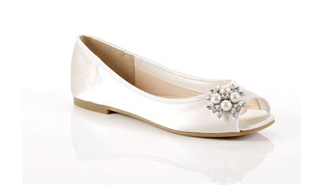 Wedding Shoes Ivory Flats by Ivory Diamante Flat Wedding Shoes Wedding Shoes Hq 2013