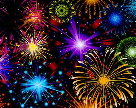 celebration fireworks  red blue yellow  green color wallpaper hd  mobile phone tablet