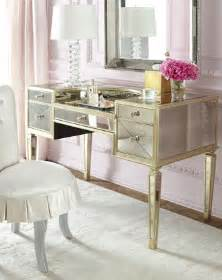 Mirrored Bedroom Vanity Table Quot Amelie Quot Mirrored Vanity