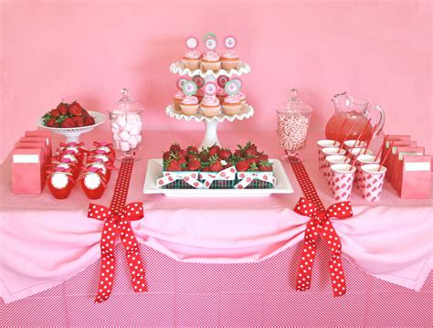 party table ideas parties sweet strawberry party glorious treats