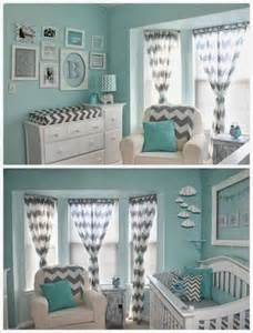 Navy White Chevron Curtains Teal Amp Grey Nursery Design For My Little Micah Man