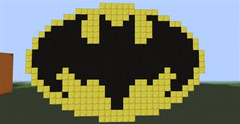 pin minecraft batman logo template on pinterest