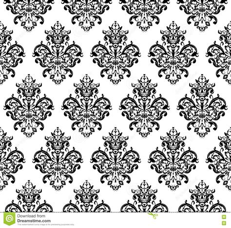 Repeat Pattern Black And White | black and white seamless repeating vector pattern stock